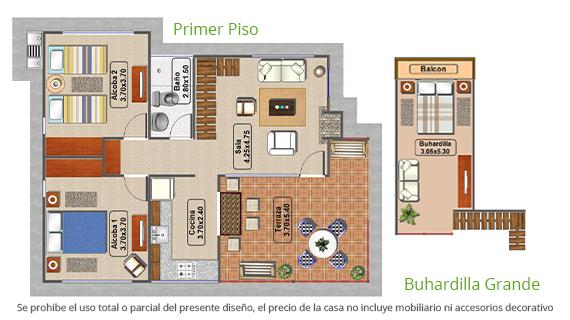 casa-tipo-2-parcelacion-el-carmelo-plano