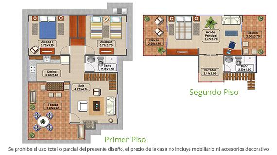 casa-tipo-3-parcelacion-el-carmelo-plano